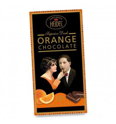 Heidel - hořká čokoláda 70% pomeranč 100g