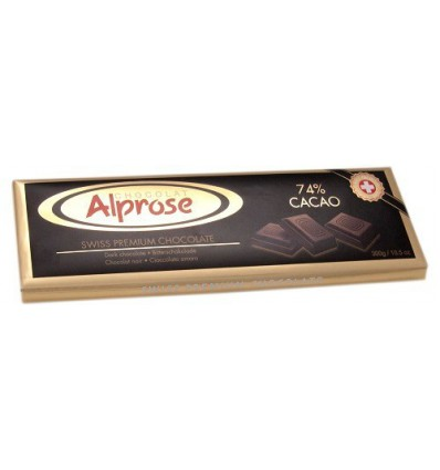 Alprose - hořká čokoláda 74% kakaa 300g