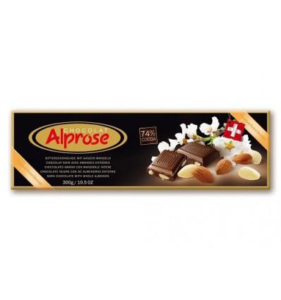 Alprose - hořká čokoláda 74% kakaa s mandlemi 300g