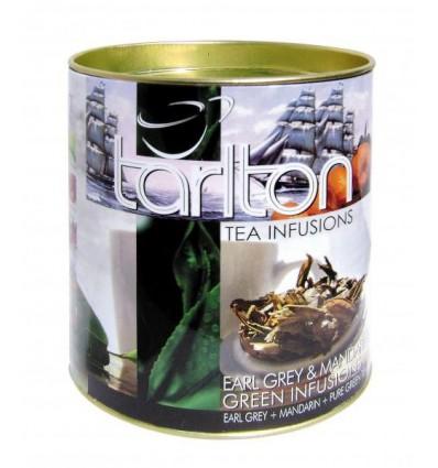 Tarlton - zelený sypaný čaj aromatizovaný - Mandarinka malá dóza 100g