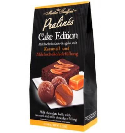 Maitre Truffout - Cake Edition mléčné pralinky s čoko karamelovou náplní 140g