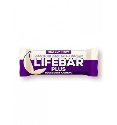 Lifefood - LIFEBAR PLUS tyčinka  BORŮVKOVÁ S QUINOOU BIO/RAW/VEGAN/BEZ LEPKU-CUKRU-LAKTOZY 47g