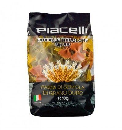 """Piacelli - Těstoviny """"Farfalle Tricolore No 58"""" 500g"""