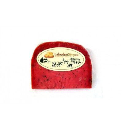 Lahodné sýry - Gouda sýr pesto červené - VÝSEK CCA 120g