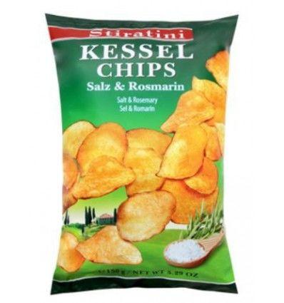 Stiratini - chipsy Kessel rozmarýn a mořská sůl 150g
