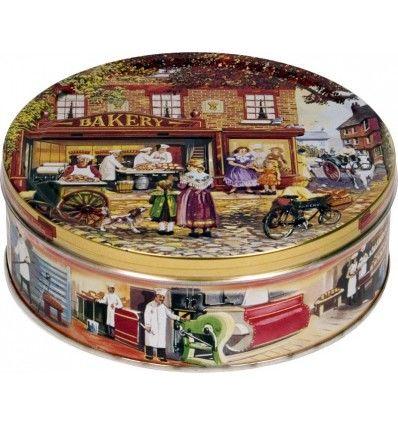 """Jacobsens Bakery - Směs sušenek v plechové dóze """"Baker shop"""" 400g"""
