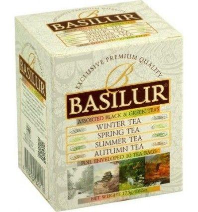 Basilur - variace černých a zelených čajů - Season Collection 6x1,5g a 4x2g