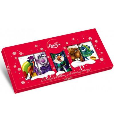 Laima - Vánoční mléčné čokoládky ZVÍŘÁTKA 90g