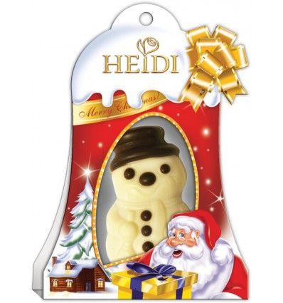 Heidi - Vánoční plněná figurka Mini Sněhulák 20g
