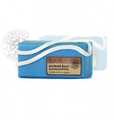BOEMI - Mýdlo glycerinové závěsné Mořské řasy a Eukayiptus 200g
