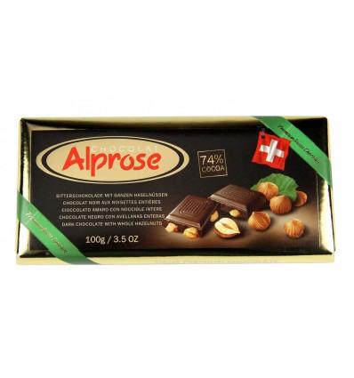 Alprose - hořká čokoláda 74% kakaa s mandlemi 100g
